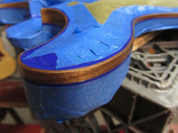 Wood guitar binding